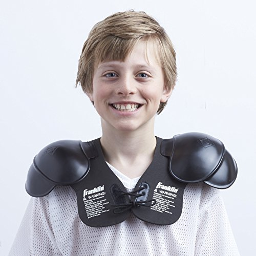Franklin Sports Youth Shoulder Pads - Perfect for Halloween Costume, Black (6604-5)