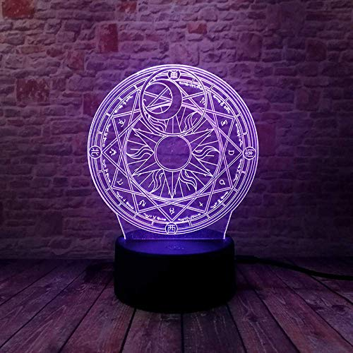 3D Illusion Lamp Led Night Light Magical Sakura Anime Figma Model Colorful Changing Japan Manga Action & Toy Figures for Children's Birthday Or Holiday Gifts