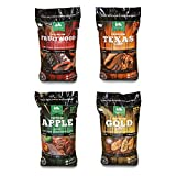 Green Mountain Grills (GMG Pellet Variety Pack - Fruitwood, Texas, Apple, Gold Blend Grilling Pellets (4 Pack)