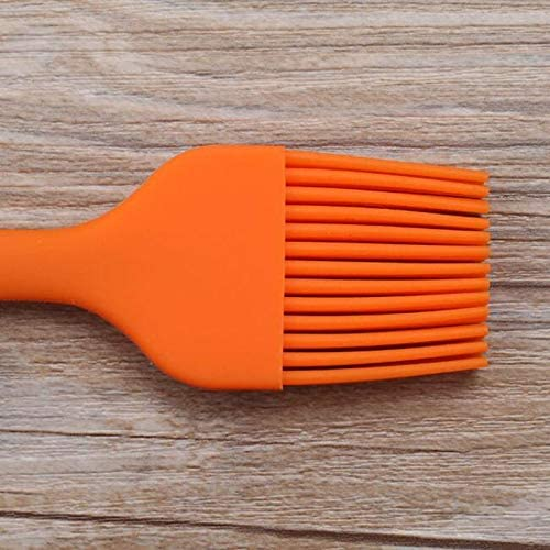 Cookware BBQ silicone Brosse de cuisson à l'huile Brosses Outils for barbecue outil de cuisine (rouge) Asun (Color : Red) Orange