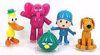 HIMEX BRANDS 5pcs Set Cartoon Pocoyo Action Figures Kids Toys Birthday Cake Topper Gift