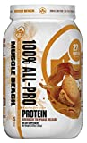 Muscle Beach Nutrition 100% All-Pro Advanced Tri-Phase Release Whey Protein Isolate, Concentrate, Micellar Casein for Men & Women - Workout Supplement to Recover Muscles - Peanut Butter Cookie, 2lb