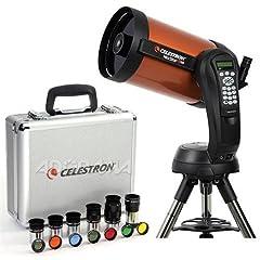 NexStar 8 Schmidt-Cassegrain - 25mm E-Lux (81x) Eyepiece - StarPointer Finderscope - Star Diagonal & 1.25 - Pre-assembled Steel Tripod - Software: NexRemote & The Sky L1 - Celestron Warranty - Note: Power Supply 8-AA batteries (not included & user su...
