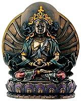 仏教装飾 蓮の上座った 阿弥陀如来 仏像 ブロンズ風彫刻 彫像/ Bronze Amitayus Sitting On Lotus Buddhism Decoration Figurine(輸入品