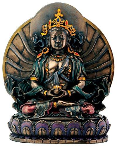 Summit stealstreet Bronze Amitayus auf Lotus sitzend Buddhismus Dekoration Figur