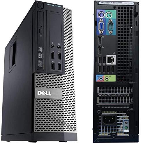 Windows 10 Dell 7020 SFF Intel Core i5-4570T Desktop PC Computer - 8GB DDR3-256GB SSD - 300Mbps WI-FI (Renewed)