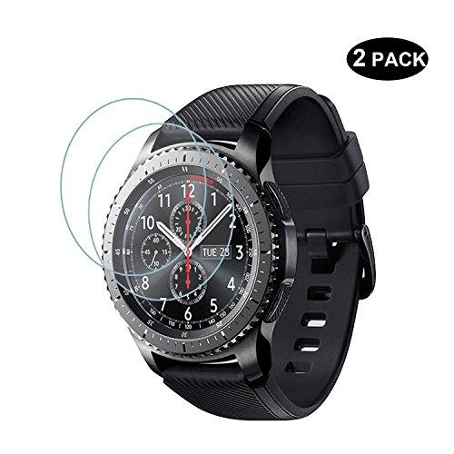 [2Pack] Samsung Gear S3Classic/Frontier Bildschirmschutzfolie Glas, rbeik 2.5D 9H Festigkeit HD Klar kratzfest gehärtetem Glas Bildschirmschutzfolie für Samsung Galaxy Gear S3Smart Watch