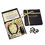 The Secret London - Set regalo con braccialetto di chakra e olio essenziale rilassante alla lavanda, ideale per le donne, a opera di Lia Chahla