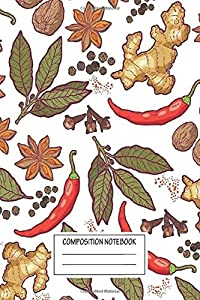 Notebook: Spices Pattern Wide Ruled , Journal for Writing, Size 6