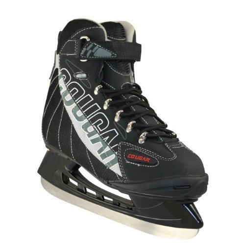 American Athletic Shoe Senior Cougar Soft Boot Hockey Skates, black, 12by American Athletic