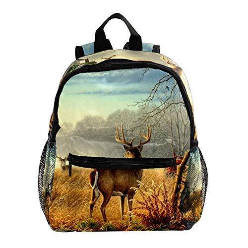 School Backpack Nature Farm Toddler Backpack Kids Schoolbag Waterproof 25.4x10x30 cm
