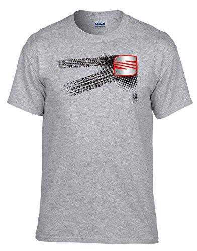 SEAT Auto Logo car Grau T-Shirt -030 -Grau (XL)