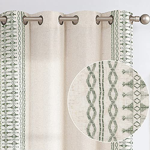 Boho Curtains for Bedroom Linen Window Curtains