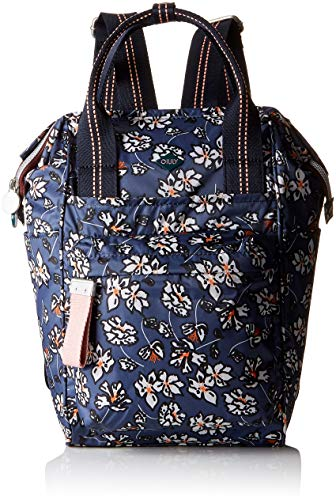 Oilily Damen Groovy Backpack Mvz Rucksackhandtasche, Grau (Grey), 12x34x22 cm