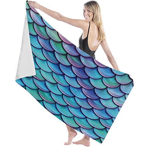 Toalla Beach Towels Toallas Shower Towels Bathroom Towels Escala de pez azul púrpura Hermoso cambio gradual,130CM X80CM