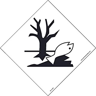 DL174ALV National Marker Dot Shipping Label, Marine Pollutants Symbol, 4 Inches x 4 Inches, Ps Vinyl, 500/Roll
