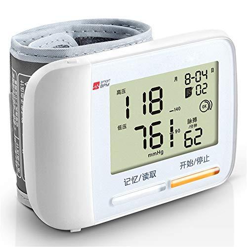 JUZEN Blutdruckmessgerät Home Automatisches digitales Handgelenkmanschetten-Blutdruckmessgerät Herzschlag-Überwachungsinstrument Überprüfen Sie die genaue und schnelle Ablesung