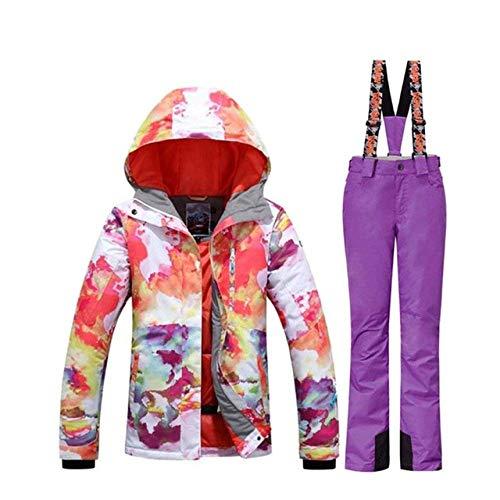 XYQY Skianzug Damen Winter Ski Anzug Damen Snowboard Anzug Damen Sport Winter Skibekleidung Bergskijacke und warme Hose l A3