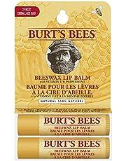 Burt's Bees Balsamo labbra idratante, di origine naturale, confezione da 2 tubetti - 30 g