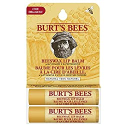 Lip care: two 4.25g tubes of Burt's Bees Moisturizing lip balm that is bursting with minty freshness so that you can refresh and renew your lips Moisturizer: made with beeswax, Vitamin E and a hint of peppermint oil, hydrate and nourish dry lips with...