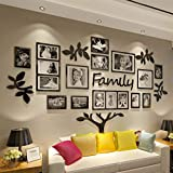 【3D DIY Wall Decals】— Be composed of 56 pcs acrylic Stickers included adhesive. Be assembled and pasted on the wall directly. 【Black Mirror 3D Effect】— Bright and reflective surface with 2mm thickness, it looks glitter under the light from different ...