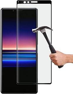 Lapinette Full Tempered Glass Compatibel met Sony Xperia 1 - Screenprotector van Gehard Glas Xperia 1 Full - 9H Force Glas...