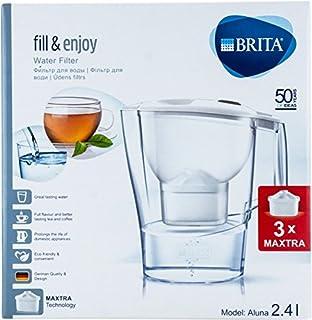 BRITA Fill & Enjoy Filtre à Eau Aluna Blanc 2,4L 3x Cartouches Maxtra (Start Paquet) mètres