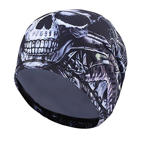 Tofern Mütze unter den Helm Skull Cap elastisch formstabil farbecht Fahrrad Sport, KW-C-17007