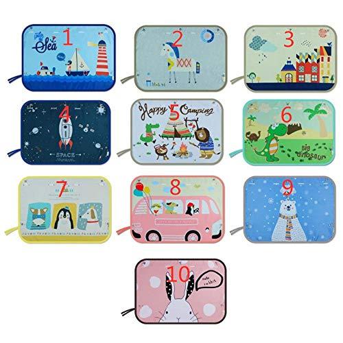Huien Kinderen Auto Zijruit Zonnescherm Cartoon Gordijn zonneklep UV-bescherming Gordijn voor jongens Kinderauto's Achterkant Cover