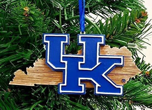 Kentucky Wildcats State MAP Ornament 4'