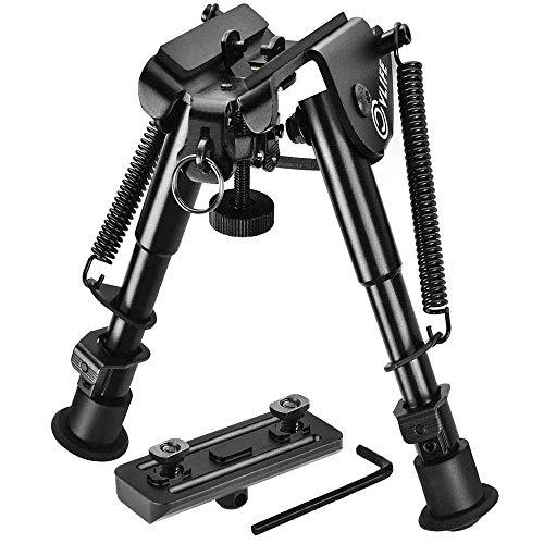 CVLIFE 6-9 Inches Rifle Bipod for M-lok Rail Mlok Bipod with Mlok Mount Adapter