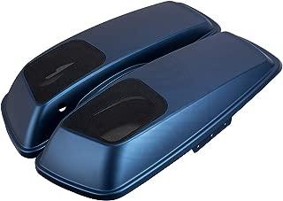 Legend Blue Denim 6 x 9 inch Saddlebag Speaker Lids Audio Covers Fit for Harley Touring Street Glide Special FLHXS 2018