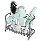 mDesign Soporte para secador de pelo de pie y sin taladro �