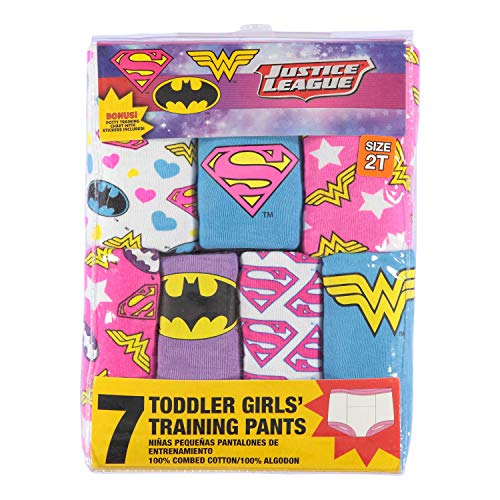 DC Comics Girls' Toddler 7-Pack, Justice League, 3T