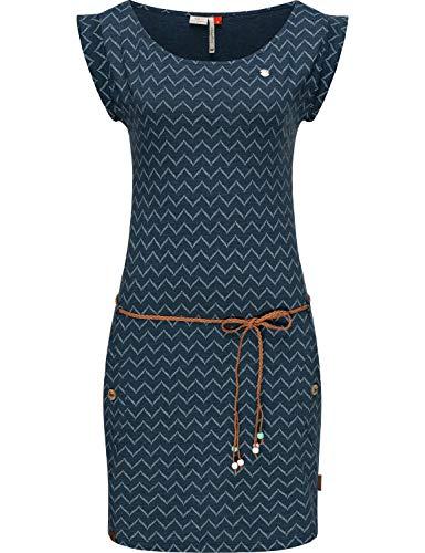 Ragwear Damen Baumwollkleid Jerseykleid Sommerkleid Strandkleid Tag Zig Zag Denim Blue20 Gr. XL