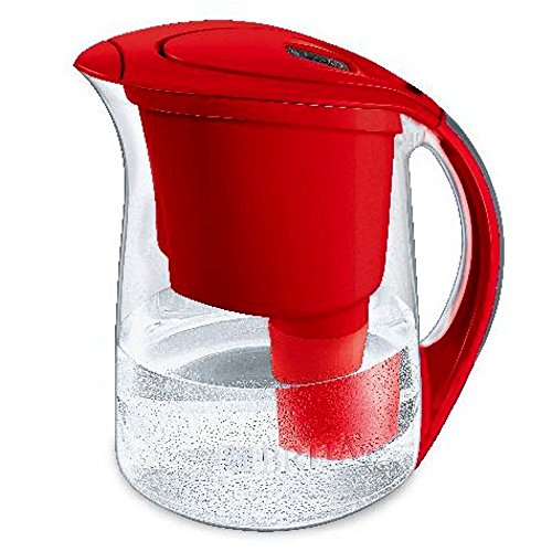 Brita Oceania Water Filter Pitcher, 10 Cup, Red