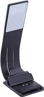 Luminária de livro OSALADI para leitura na mesa com cabo USB integrado, fácil de carregar, preto, marcador de livro, 2 peç...