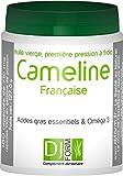 Französische Camelina sativa Öl - 180 Kapseln - Leindotteröl - Pflanzliche Omega 3 - Nativ und kaltgepresst - Angebaut und gepresst in Frankreich