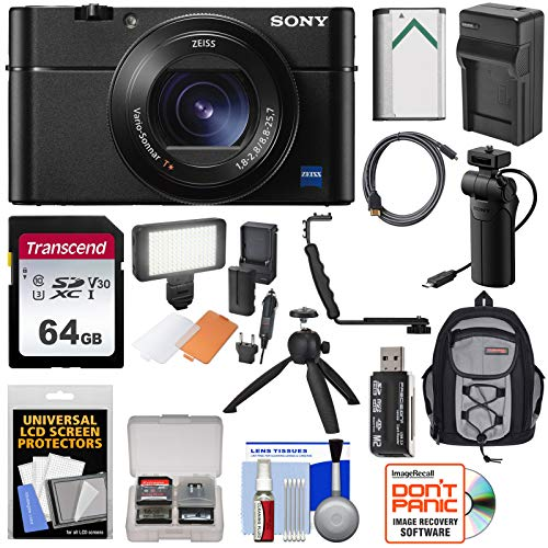 Sony Cyber-Shot DSC-RX100 VA 4K Wi-Fi Digital Camera with VCT-SGR1 Shooting...