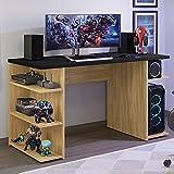 Mesa para Computador Gamer Escrivaninha 9409 Madesa - Carvalho/preto