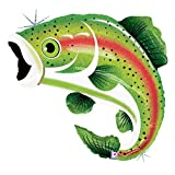 Rainbow Trout 29' Extra Large Holographic Foil Balloon