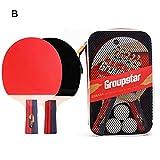 Ping Pong Paddle Set-Juego De Tenis De Mesa, Juego De Paleta Profesional De Ping Pong con 2 Palos Y 3 Tenis De Mesa Blancos