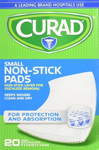 Curad Non-Stick Pads - CUR47396RB , 2 X 3 Inch(5.1 x 7.6 cm), 20 Count