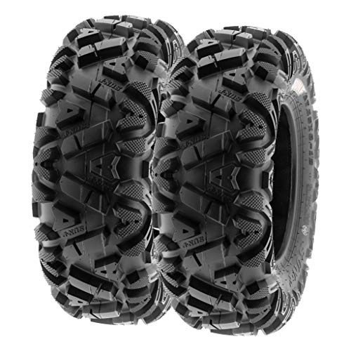 SunF 27x9-14 27x9x14 ATV UTV Tires 6 PR Tubeless A033 POWER I [Set of 2]