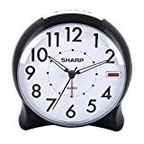 Sharp SPC127A Quartz Analog Alarm Clock (Black/White) [並行輸入品]