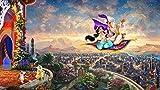 ERTYG para Adultos 1000 Piezas Rompecabezas para Puzzles para Adultos Princesa Aladdin en la Alfombra voladora | Divertido Juego Familiar interesantes Amigo Familiar