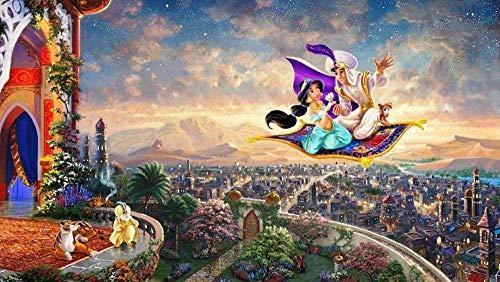 ERTYG Puzzle de 1000 Piezas Rompecabezas de Princesa Aladdin en la Alfombra voladora   para niños Adultos DIY Juguetes Regalo