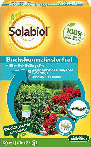 Solabiol Buchsbaumzünslerfrei, biologisches Spezialmittel gegen den Buchsbaumzünsler, 50ml