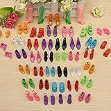 Photo Gallery camtoa 40 paia fashion dolls scarpe, tacchi alti, sandali, stivali per la bambola regalo,multicolore (adatti per barbie dolls)