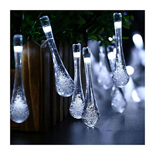 Blue 30 LED Solar String Lights Outdoor Waterproof Garden Path Yard Decor Fairy Lamp | Closset Org